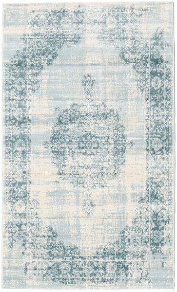 Jinder - Cream/Jasny Niebieski Dywan 100X160 Nowoczesny Jasnoniebieski/Beżowy ( Turcja)