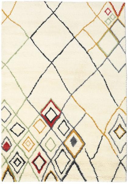 Berber Indie - Off-White/Multi Dywan 160X230 Nowoczesny Tkany Ręcznie Beżowy/Biały/Creme (Wełna, Indie)