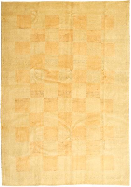Gabbeh (Persja) Dywan 206X295 Nowoczesny Tkany Ręcznie Żółty/Jasnobrązowy (Wełna, Persja/Iran)