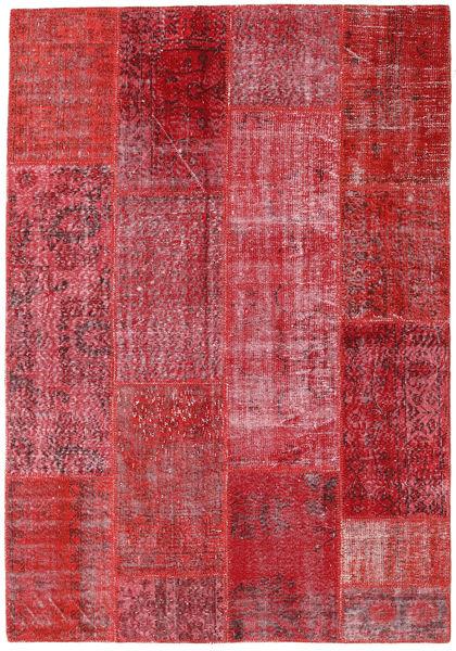 Patchwork Dywan 160X230 Nowoczesny Tkany Ręcznie Czerwony/Rdzawy/Czerwony (Wełna, Turcja)