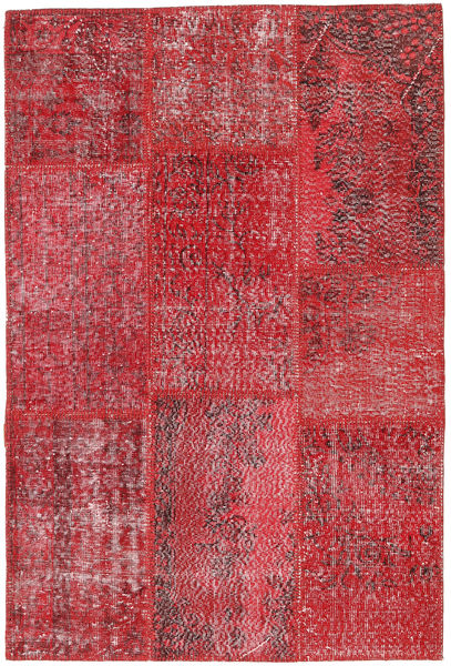 Patchwork Dywan 121X181 Nowoczesny Tkany Ręcznie Ciemnoczerwony/Czerwony (Wełna, Turcja)