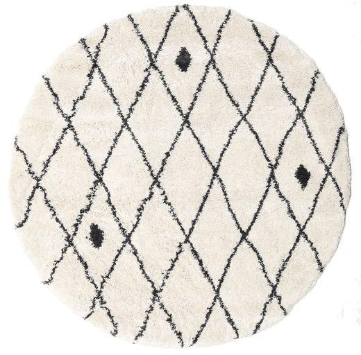 Shaggy Zanjan - Kość Słoniowa/Ciemny Szary Dywan Ø 200 Nowoczesny Okrągły Beżowy/Jasnoszary ( Turcja)