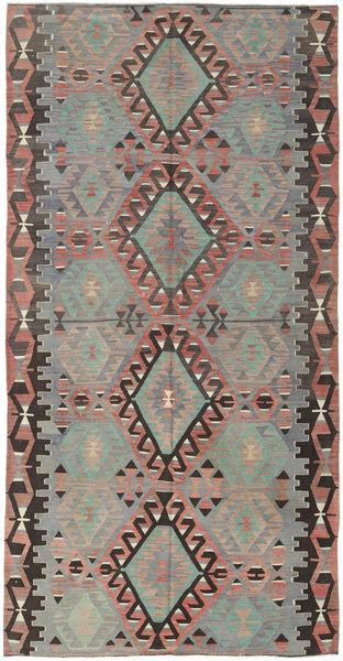 Kilim Tureckie Dywan 160X308 Orientalny Tkany Ręcznie Ciemnoszary/Jasnoszary (Wełna, Turcja)