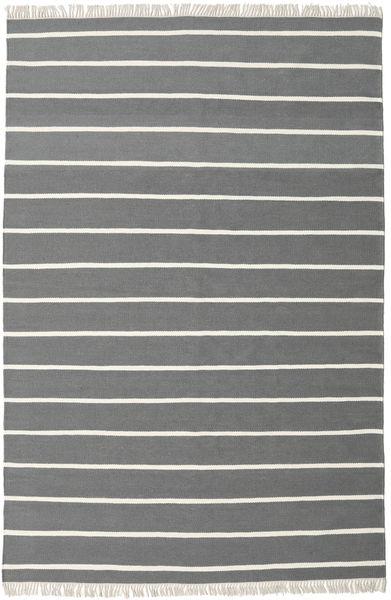 Dorri Stripe - Szary Dywan 200X300 Nowoczesny Tkany Ręcznie Ciemnoszary/Ciemnozielony (Wełna, Indie)