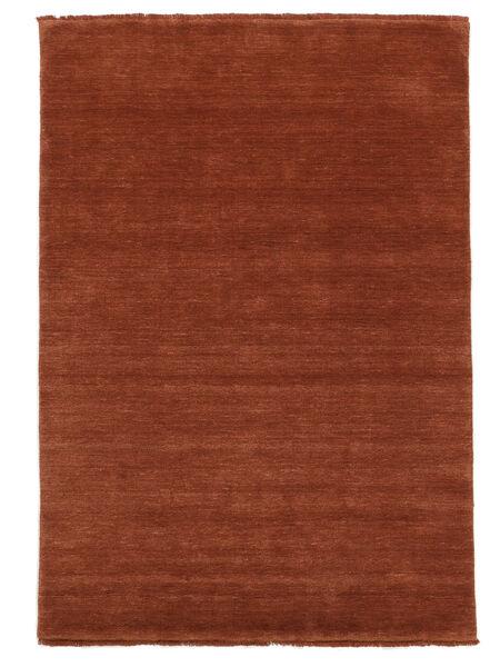 Handloom Fringes - Intensywna Rdza Dywan 160X230 Nowoczesny Rdzawy/Czerwony/Ciemnoczerwony (Wełna, Indie)