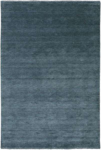 Handloom Fringes - Morska Zieleń Dywan 200X300 Nowoczesny Niebieski/Ciemnoniebieski (Wełna, Indie)