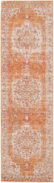 Nadia - Pomarańczowy Dywan 80X300 Nowoczesny Chodnik Ciemnobrązowy/Rdzawy/Czerwony ( Turcja)