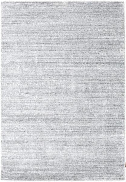 Bamboo Jedwab Loom - Szary Dywan 160X230 Nowoczesny Biały/Creme/Jasnoszary ( Indie)