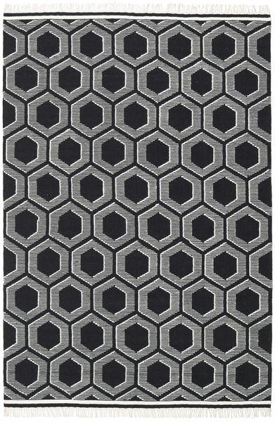 Opti - Czarny/White Dywan 200X300 Nowoczesny Tkany Ręcznie Ciemnoszary (Wełna, Indie)