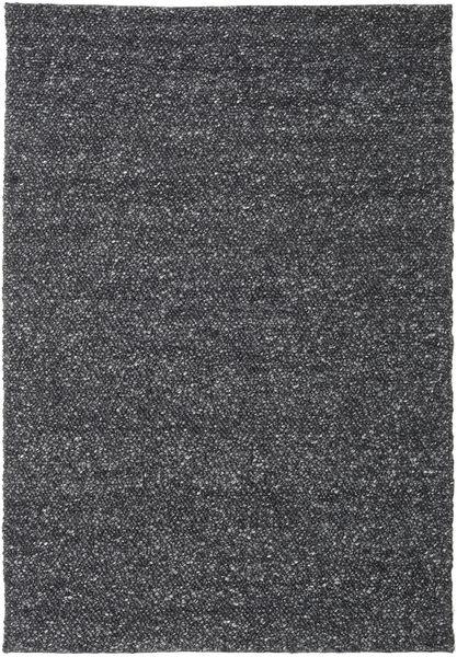 Bubbles - Melange Czarny Dywan 300X400 Nowoczesny Ciemnoszary Duży (Wełna, Indie)