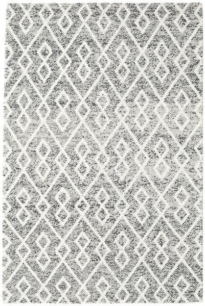 Hudson - Melange Czarny Dywan 200X300 Nowoczesny Jasnoszary/Beżowy (Wełna, Indie)