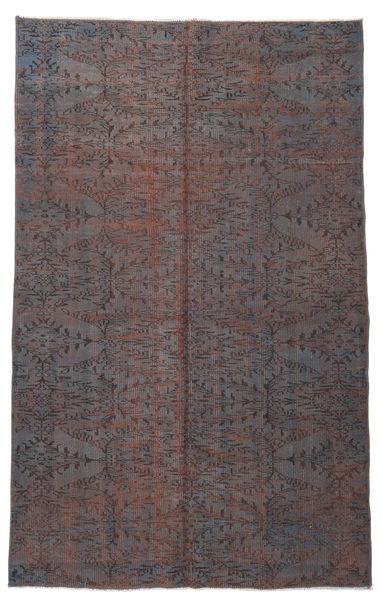 Colored Vintage Dywan 164X266 Nowoczesny Tkany Ręcznie Ciemnobrązowy/Ciemnoszary (Wełna, Turcja)