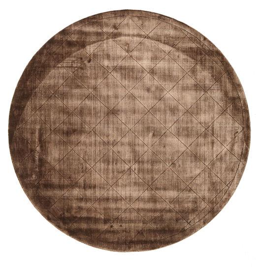 Brooklyn - Brunatny Dywan Ø 200 Nowoczesny Okrągły Brązowy/Ciemnobrązowy ( Indie)