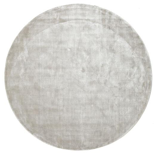 Broadway - Srebrny White Dywan Ø 200 Nowoczesny Okrągły Jasnoszary ( Indie)