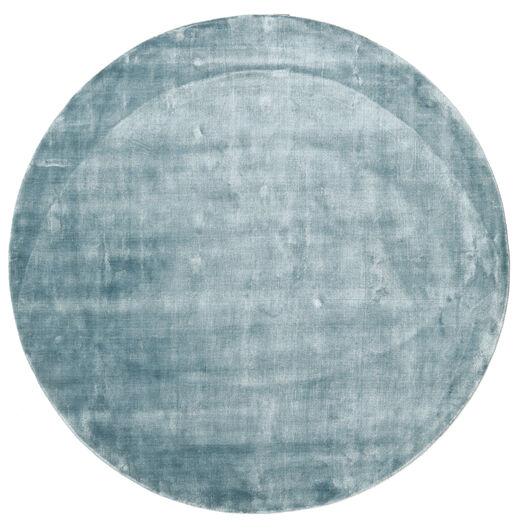 Broadway - Lodowo Niebieski Dywan Ø 300 Nowoczesny Okrągły Jasnoniebieski Duży ( Indie)