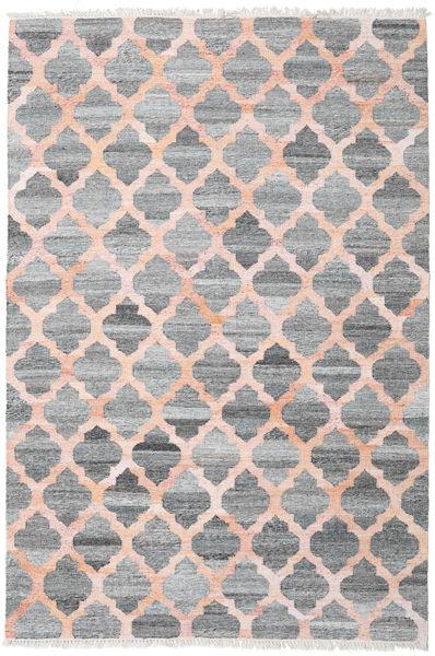 Dywan Zewnętrzny Kathi - Szary/Coral Dywan 200X300 Nowoczesny Tkany Ręcznie Jasnoszary/Ciemnoszary/Jasnoróżowy ( Indie)
