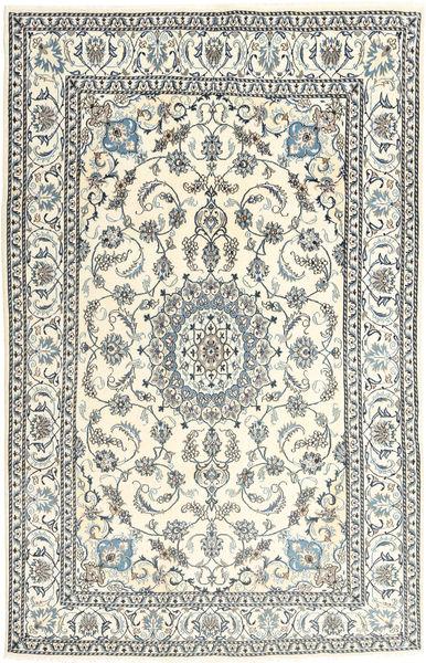 Nain Dywan 193X296 Orientalny Tkany Ręcznie Beżowy/Jasnoszary (Wełna, Persja/Iran)