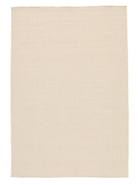 Kilim Loom - Natural Dywan 140X200 Nowoczesny Tkany Ręcznie Beżowy/Biały/Creme (Wełna, Indie)