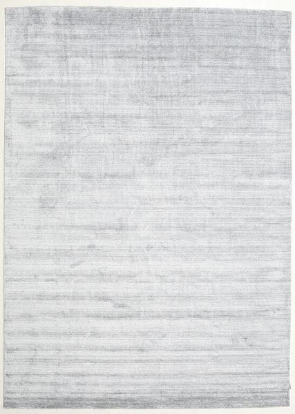 Bamboo Jedwab Loom - Szary Dywan 250X350 Nowoczesny Biały/Creme/Jasnoszary Duży ( Indie)