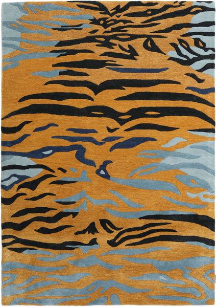 Love Tiger - Pomarańczowy/Szary Dywan 160X230 Nowoczesny Jasnobrązowy/Czarny ( Indie)