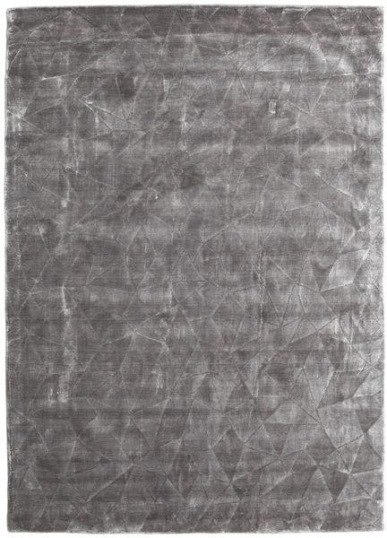 Crystal - Delikatna Szarość Dywan 140X200 Nowoczesny Jasnoszary/Ciemnobrązowy ( Indie)