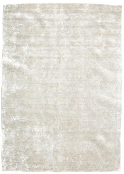 Crystal - Biały Srebrna Dywan 140X200 Nowoczesny Jasnoszary/Ciemnobeżowy ( Indie)