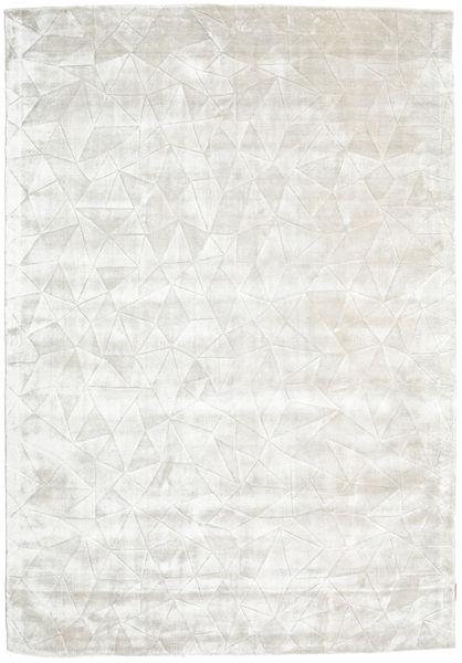 Crystal - Biały Srebrna Dywan 160X230 Nowoczesny Ciemnobeżowy/Jasnoszary ( Indie)