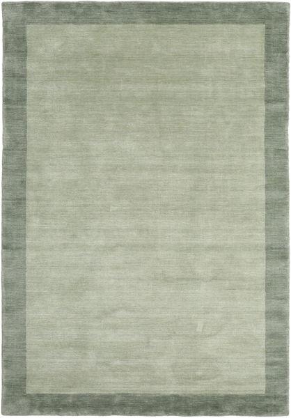 Handloom Frame - Szary/Zielony Dywan 160X230 Nowoczesny Jasnozielony/Pastel Zielony (Wełna, Indie)