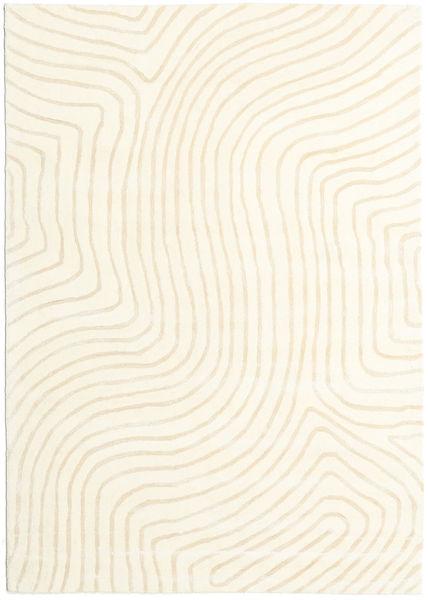Woodyland - Beżowy Dywan 160X230 Nowoczesny Beżowy/Biały/Creme (Wełna, Indie)