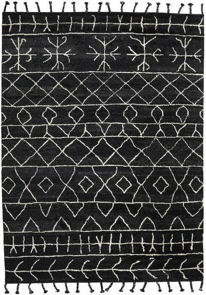 Moss Berber - Czarny Dywan 275X370 Nowoczesny Tkany Ręcznie Czarny Duży (Wełna, Indie)