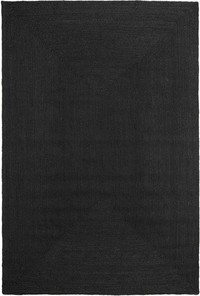 Dywan Zewnętrzny Frida Color - Czarny Dywan 200X300 Nowoczesny Tkany Ręcznie Czarny (Dywan Jutowe Indie)