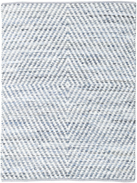 Hilda - Denim/White Dywan 170X240 Nowoczesny Tkany Ręcznie Beżowy/Jasnoniebieski (Bawełna, Indie)
