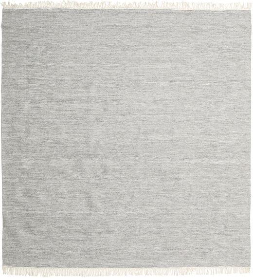 Melange - Szary Dywan 200X200 Nowoczesny Tkany Ręcznie Kwadratowy Jasnoszary (Wełna, Indie)