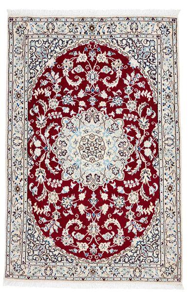 Nain 9La Dywan 98X148 Orientalny Tkany Ręcznie Ciemnobrązowy/Beżowy (Wełna/Jedwab, Persja/Iran)