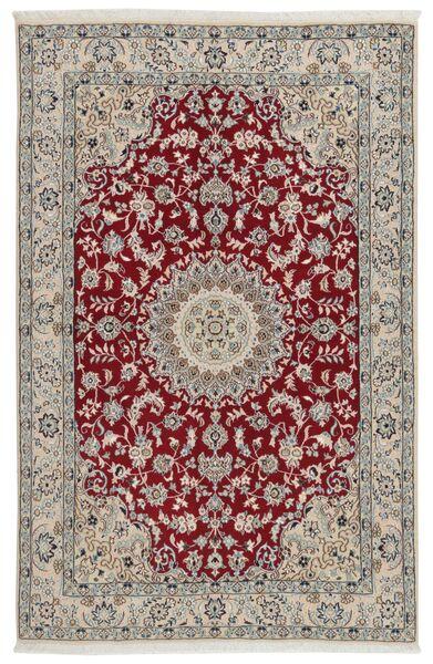Nain 9La Dywan 133X207 Orientalny Tkany Ręcznie Jasnoszary/Ciemnoczerwony (Wełna/Jedwab, Persja/Iran)