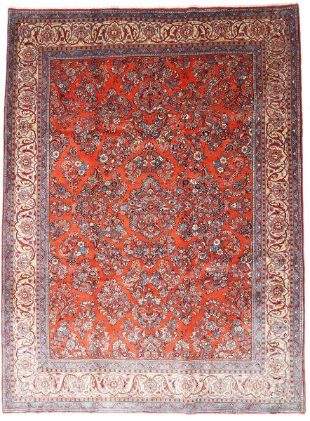 Saruk Dywan 260X348 Orientalny Tkany Ręcznie Ciemnoczerwony/Jasnofioletowy Duży (Wełna, Persja/Iran)