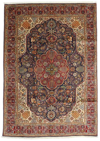 Tebriz Dywan 200X280 Orientalny Tkany Ręcznie Ciemnobrązowy/Jasnobrązowy (Wełna, Persja/Iran)