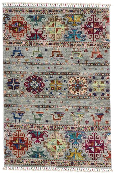 Shabargan Dywan 100X150 Nowoczesny Tkany Ręcznie Jasnoszary/Ciemnobrązowy (Wełna, Afganistan)