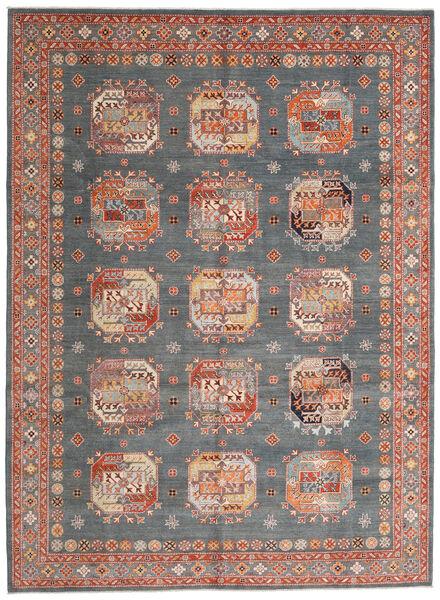 Kazak Dywan 246X333 Orientalny Tkany Ręcznie Ciemnozielony/Ciemnoczerwony (Wełna, Afganistan)