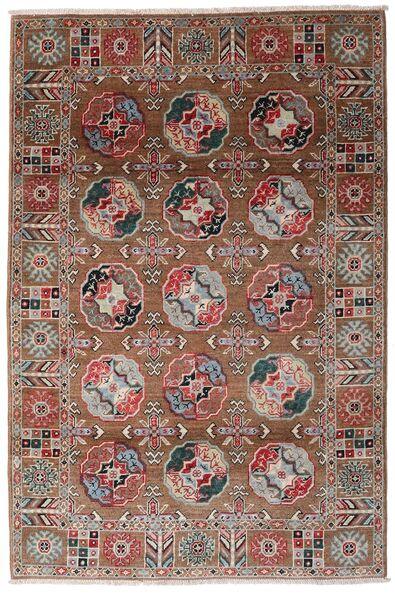 Kazak Dywan 117X176 Orientalny Tkany Ręcznie Ciemnoczerwony/Ciemnobrązowy (Wełna, Afganistan)
