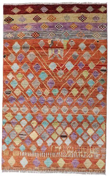 Moroccan Berber - Afghanistan Dywan 112X180 Nowoczesny Tkany Ręcznie Ciemnoczerwony/Czerwony (Wełna, Afganistan)