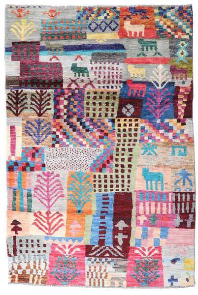 Moroccan Berber - Afghanistan Dywan 117X176 Nowoczesny Tkany Ręcznie Jasnoszary/Ciemnobeżowy (Wełna, Afganistan)