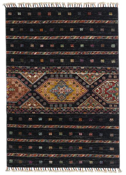 Shabargan Dywan 87X124 Nowoczesny Tkany Ręcznie Czarny/Ciemnoszary (Wełna, Afganistan)
