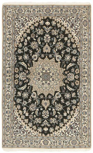 Nain 9La Dywan 114X183 Orientalny Tkany Ręcznie Jasnoszary/Ciemnoszary/Beżowy (Wełna/Jedwab, Persja/Iran)