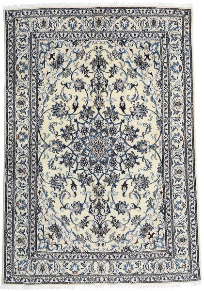 Nain Dywan 166X240 Orientalny Tkany Ręcznie Biały/Creme/Czarny (Wełna, Persja/Iran)