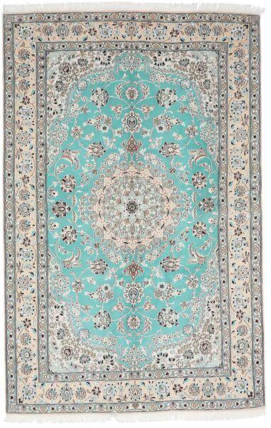 Nain 9La Dywan 157X244 Orientalny Tkany Ręcznie Jasnoszary/Biały/Creme (Wełna/Jedwab, Persja/Iran)