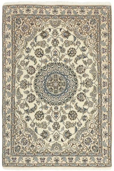 Nain 9La Dywan 98X152 Orientalny Tkany Ręcznie Beżowy/Jasnoszary (Wełna/Jedwab, Persja/Iran)