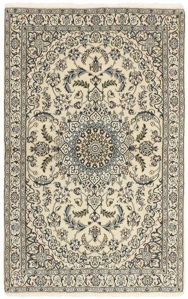 Nain 9La Dywan 114X184 Orientalny Tkany Ręcznie Beżowy/Ciemnoszary (Wełna/Jedwab, Persja/Iran)