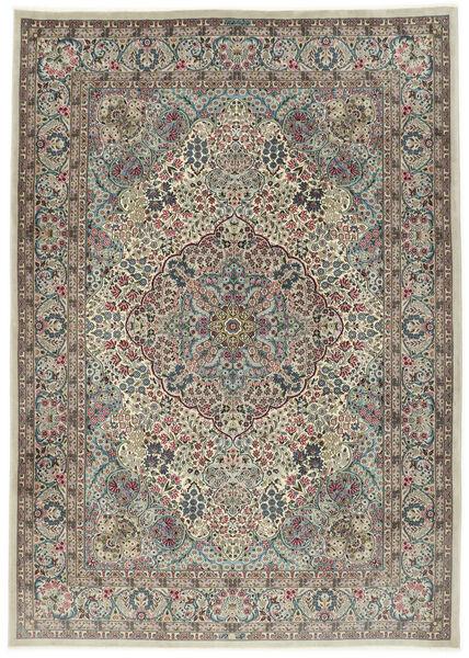 Kerman Sherkat Farsh Dywan 250X350 Orientalny Tkany Ręcznie Jasnoszary/Ciemnoszary Duży (Wełna/Jedwab, Persja/Iran)