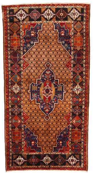 Koliai Dywan 130X255 Orientalny Tkany Ręcznie Ciemnobrązowy/Rdzawy/Czerwony (Wełna, Persja/Iran)